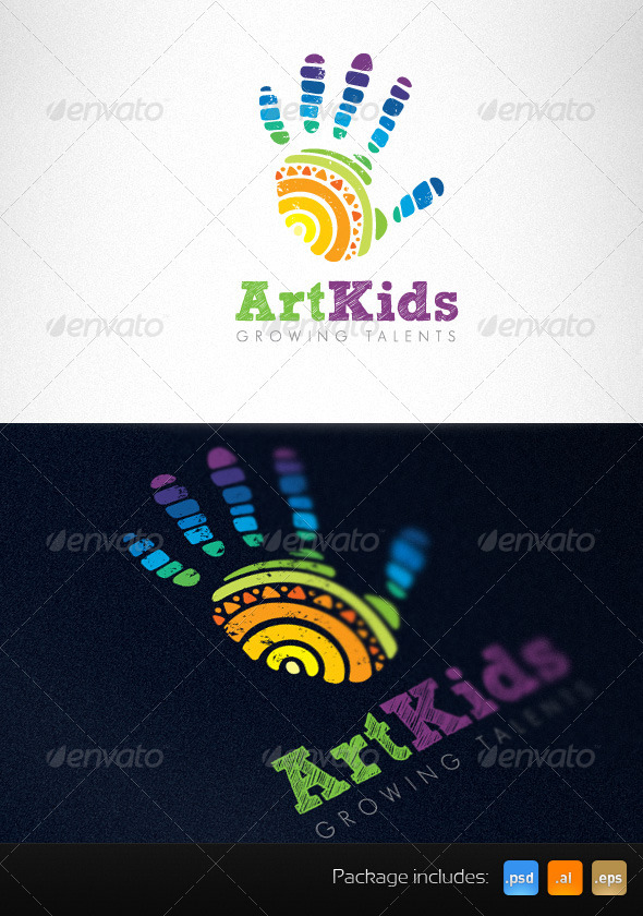 Art Kids Studio Creative Logo Template - Humans Logo Templates