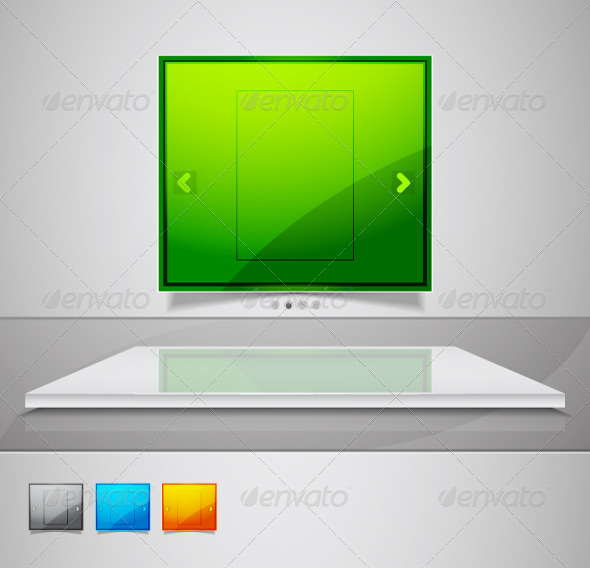 Gallery Screen Promotional Design Element