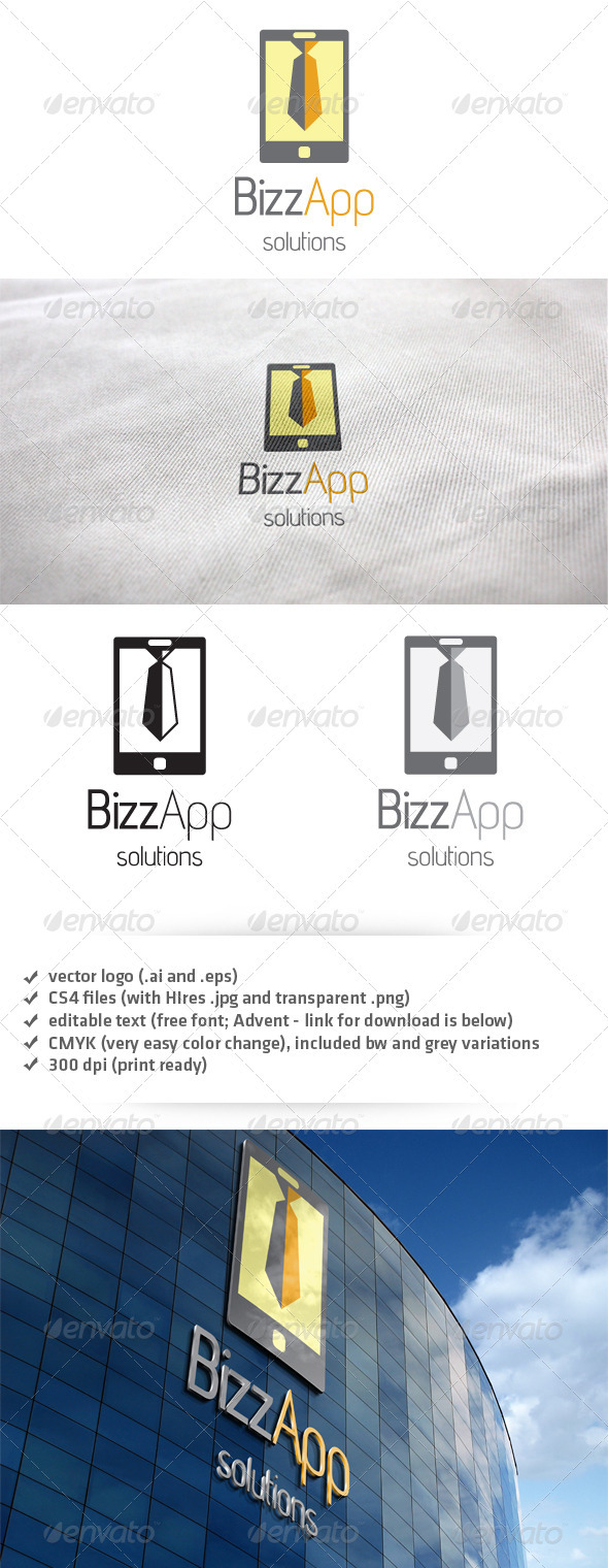 Bizz App Logo - Objects Logo Templates