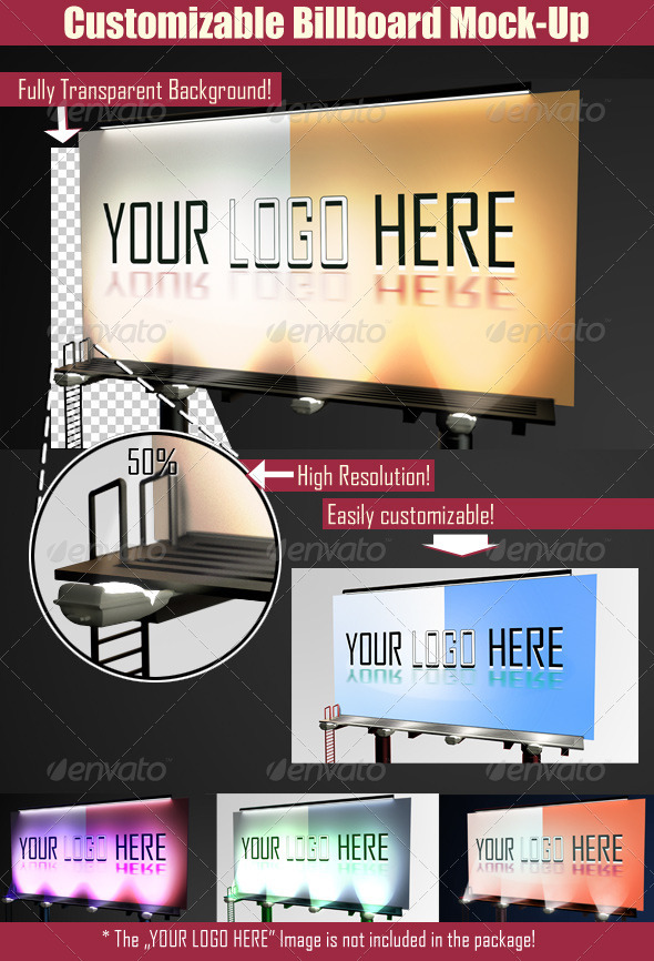 GraphicRiver Customizable Billboard Mock-up 2764714