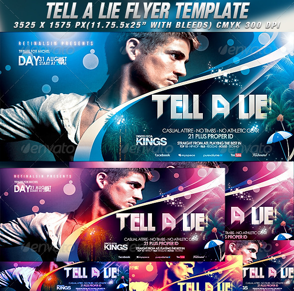 GraphicRiver Tell A Lie Flyer Template 2764922