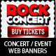 Concert & Event Web Banners & AD Kit PSD - GraphicRiver Item for Sale