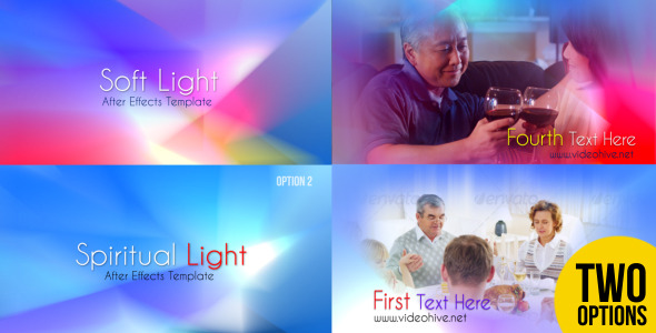 After Effects Project - VideoHive Soft Light and Spiritual Light 2765575