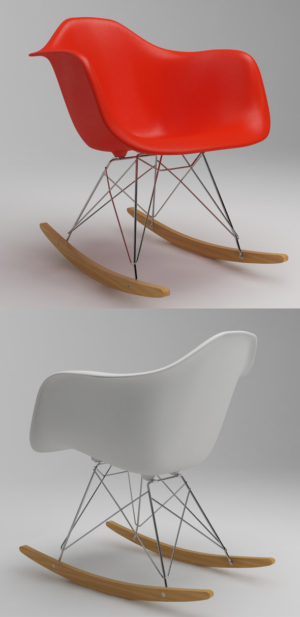 Photoreal Eames Chair RAR & vray materials