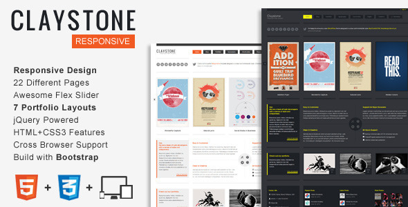 Claystone - Responsive HTML Template - Creative Site Templates