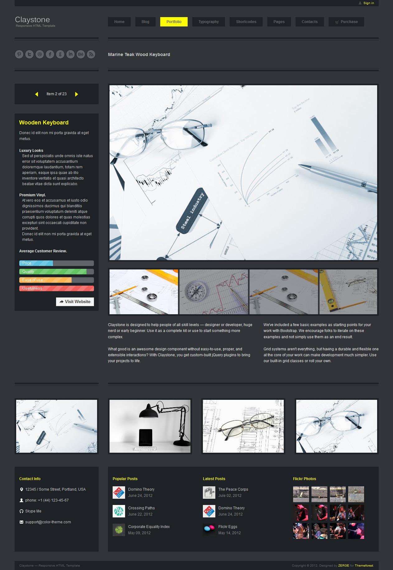 Claystone - Responsive HTML Template - 10 Portfolio Single Slideshow