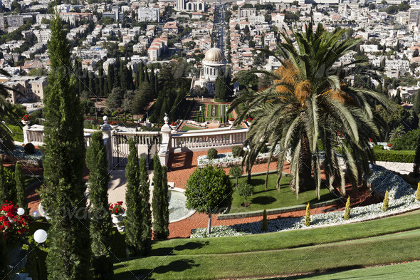 Bahai Gardens - Stock Photo - Images