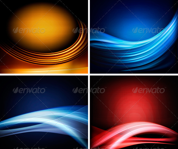 Set of business colorful abstract backgrounds