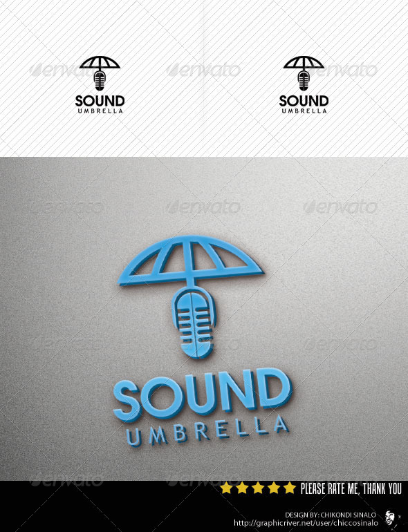 Sound Umbrella Logo Template