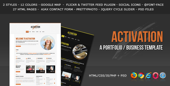 Activation - a Business / Portfolio Template
