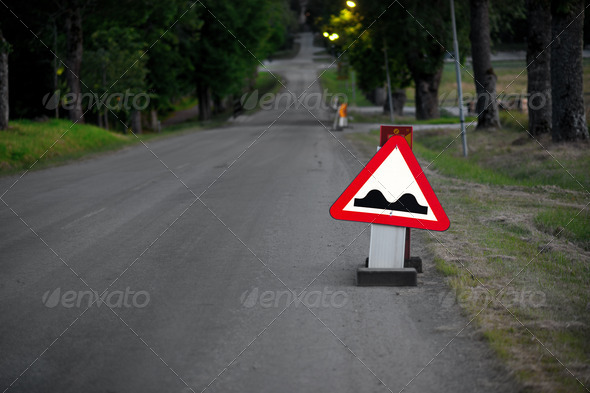 Bumpy road - Stock Photo - Images