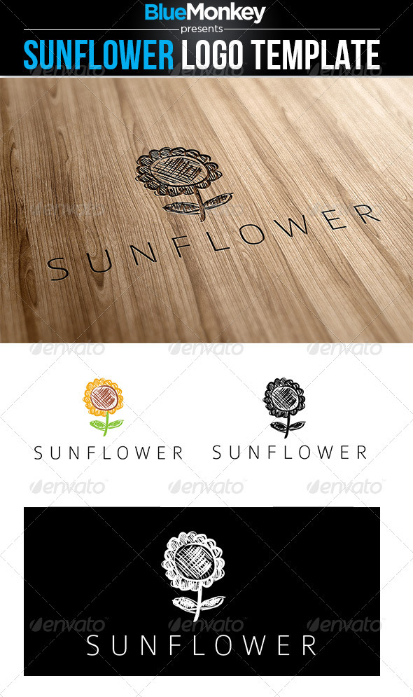 GraphicRiver Sunflower Logo Template 2765742