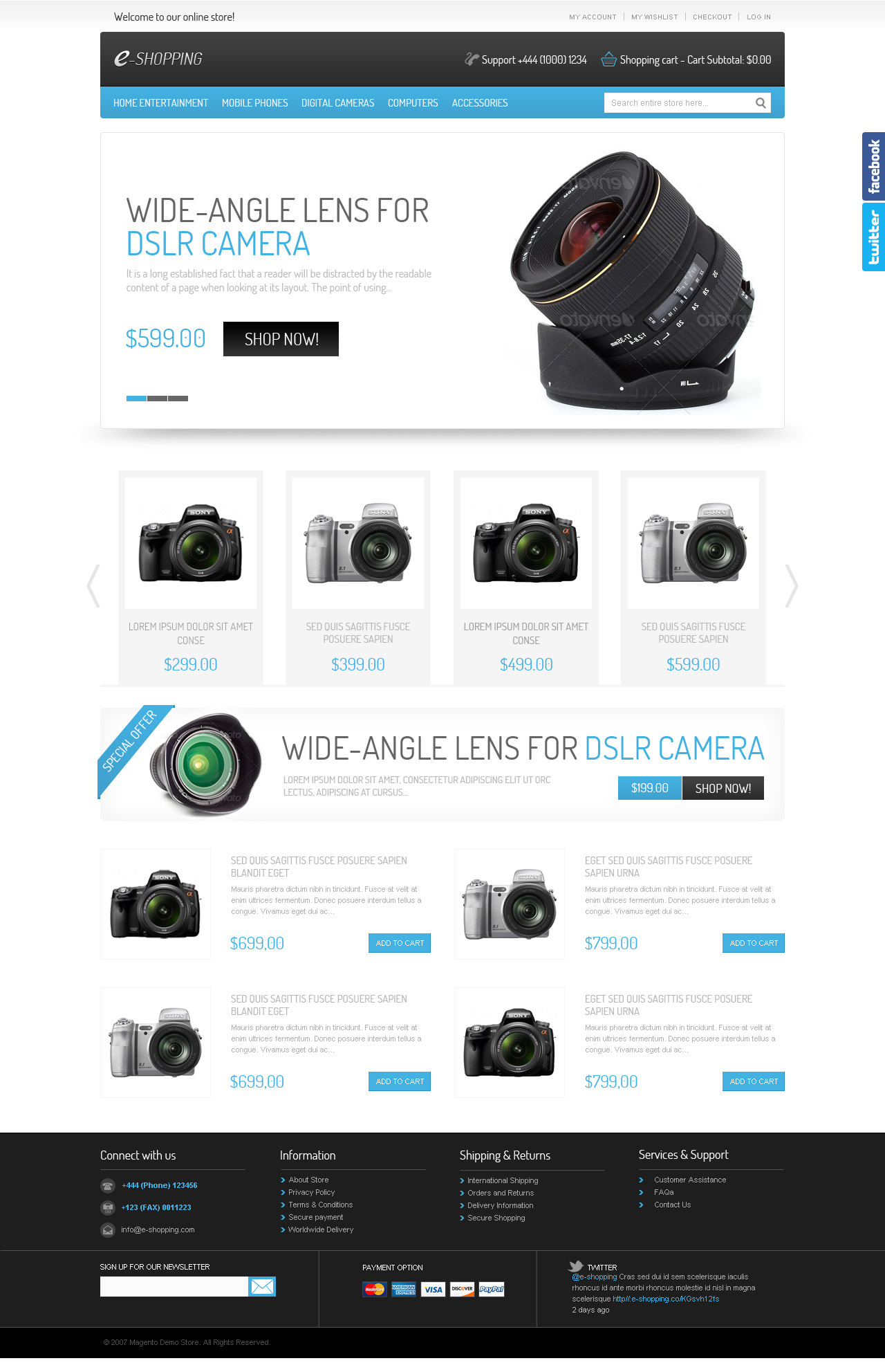 e-shopping Magento Theme