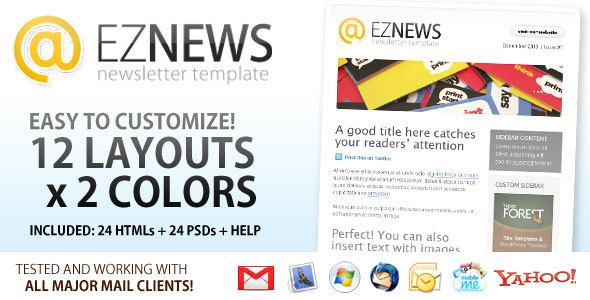 ThemeForest EZ News Newsletter Template 99836