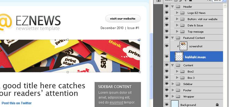 EZ News Newsletter Template - EZ News: 12 customizable templates!