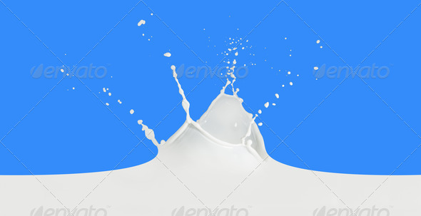 milk splash - Stock Photo - Images