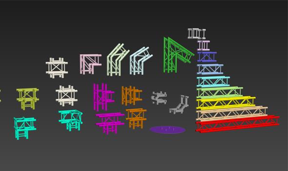3DOcean Truss Model Set 2768518