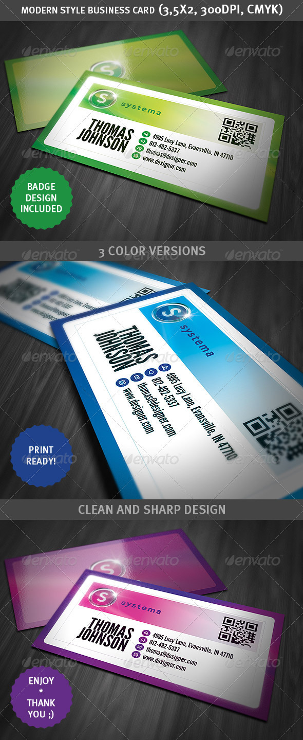 Modern Style Business Card - Corporate Business Cards