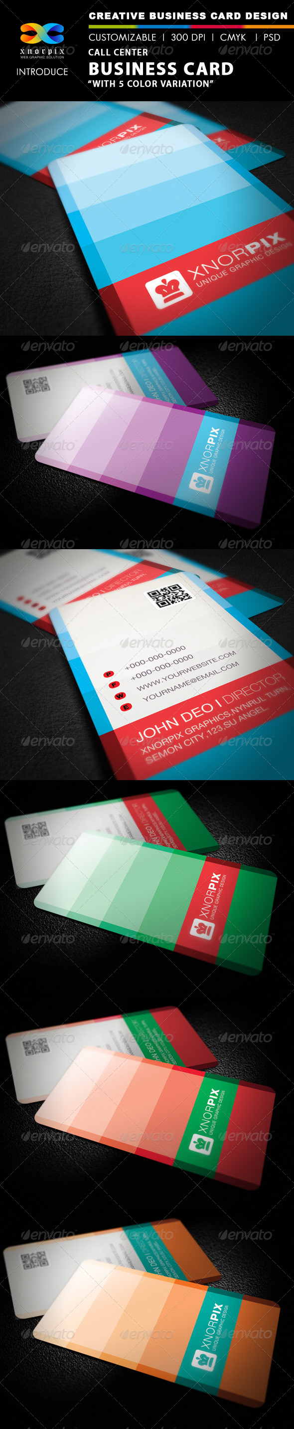 Call Center Business Card - Creative Business Cards