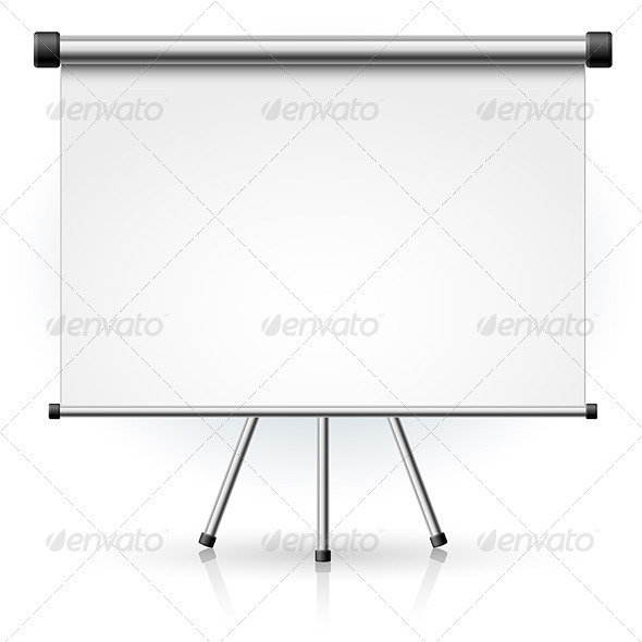 GraphicRiver Blank portable projection screen 2768977