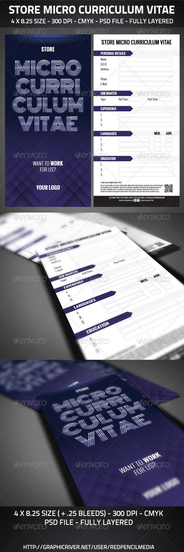GraphicRiver Store Micro Curriculum Vitae 2769286