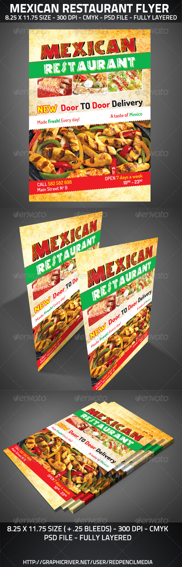 Mexican Restaurant Flyer - Restaurant Flyers