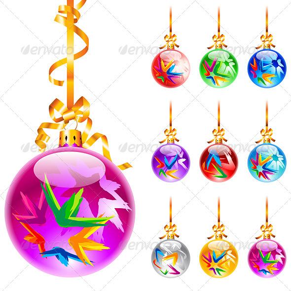 Christmas colourful balloons - Christmas Seasons/Holidays