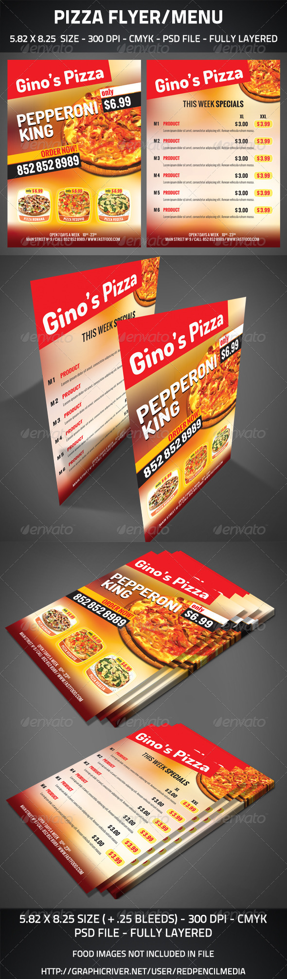GraphicRiver Pizza Flyer Menu 2769834