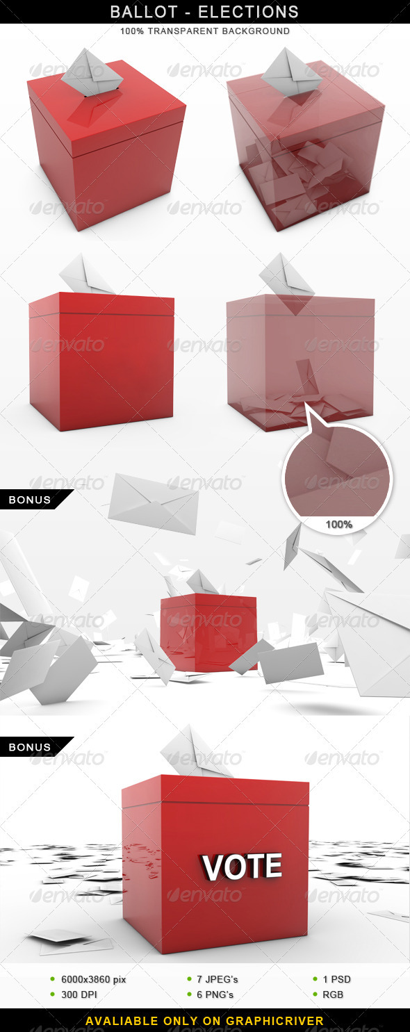 Ballot Elections Vote 3D - Objects 3D Renders