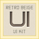 Retro Beige UI Kit - GraphicRiver Item for Sale