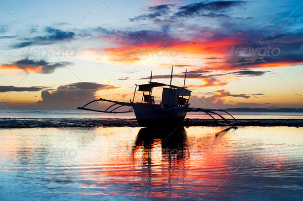 Traditional Philippines boat - Stock Photo - Images