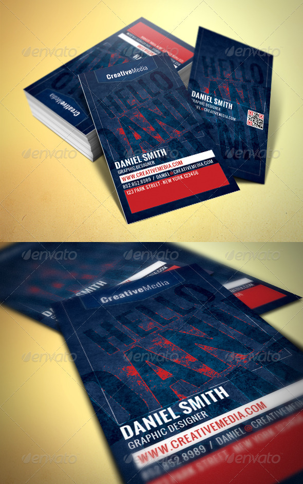 Modern Business Card - Grunge Business Cards
