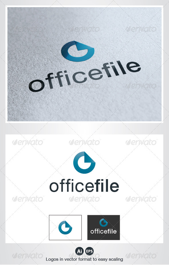 Office File O Letter Logo