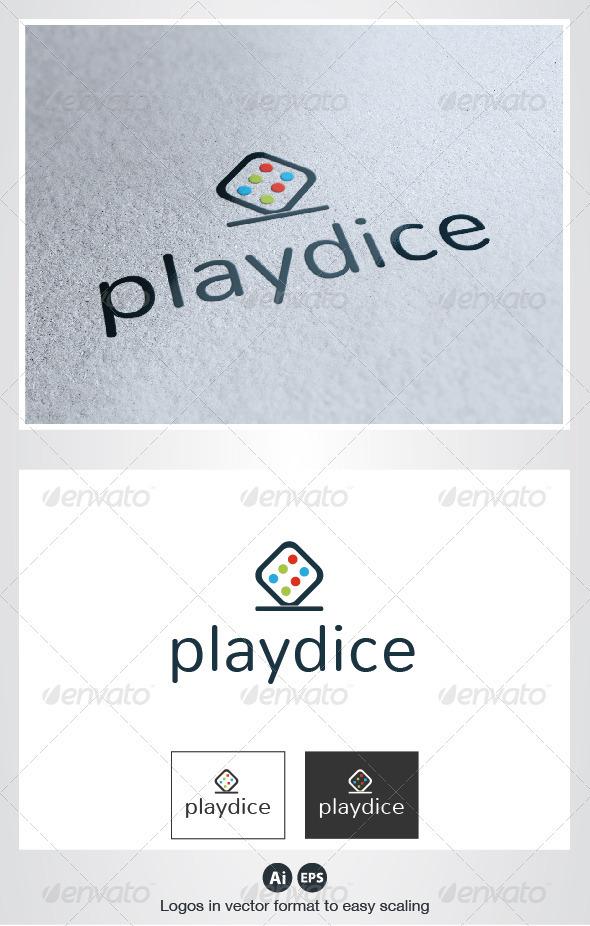 Play Dice Logo - Objects Logo Templates