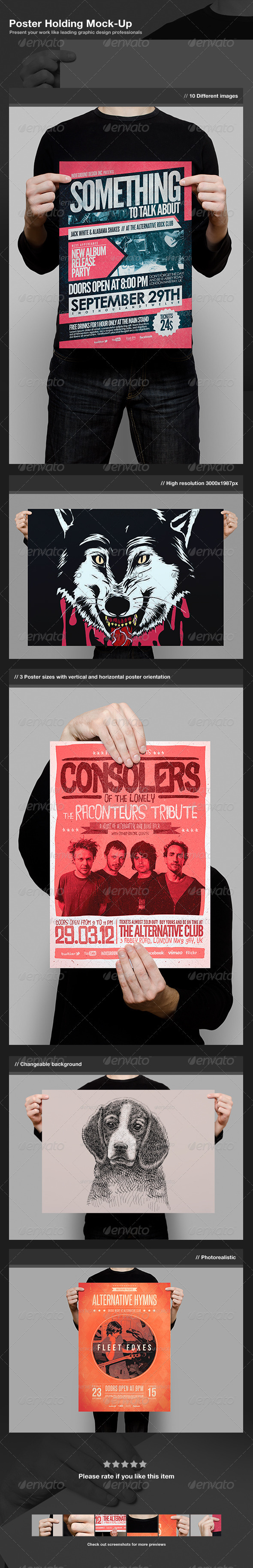 GraphicRiver Poster Holding Mock-Up 2772254