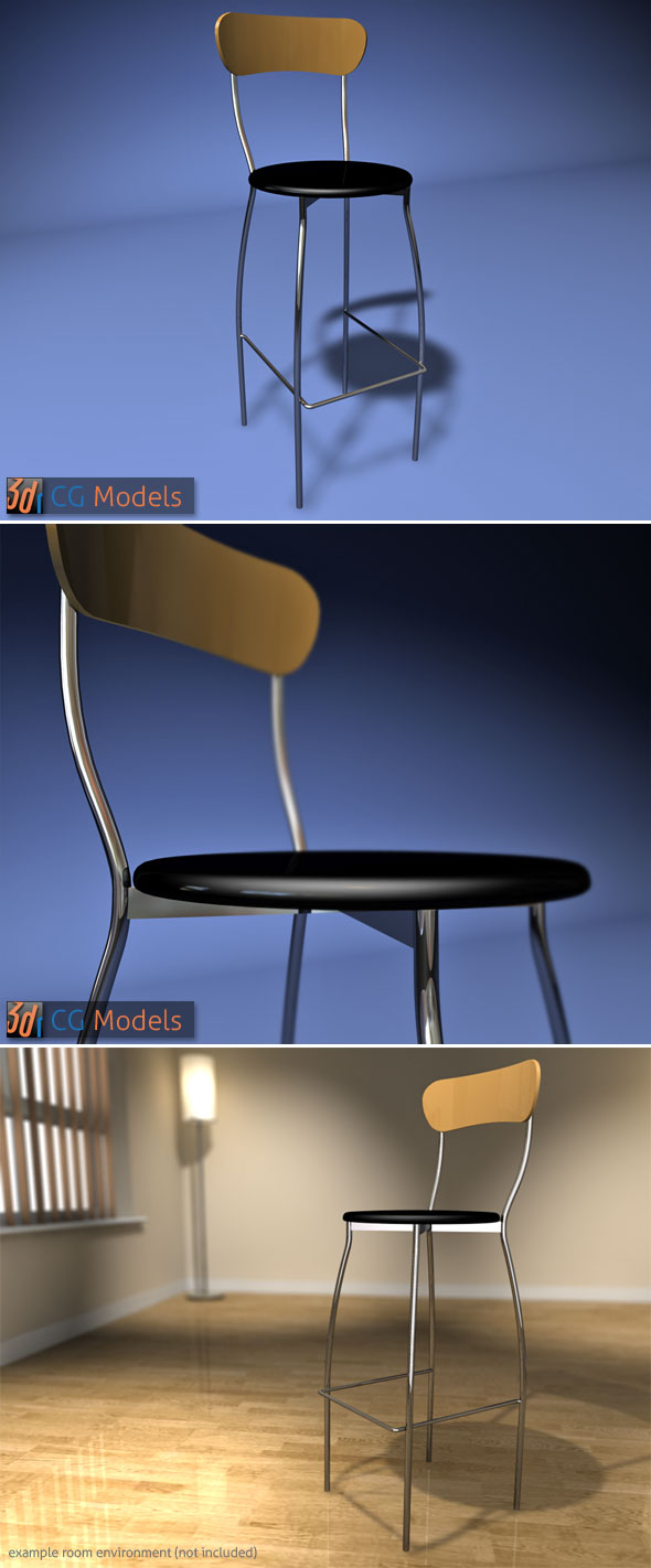 Contemporary Stool 10 - 3DOcean Item for Sale