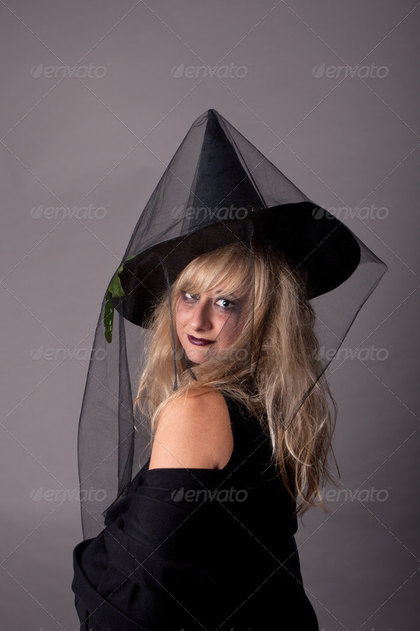 Woman dressed as a Witch - Stock Photo - Images