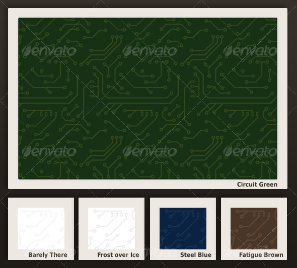 Seamless Circuit Board Pattern in 5 colors - Photoshop Add-ons