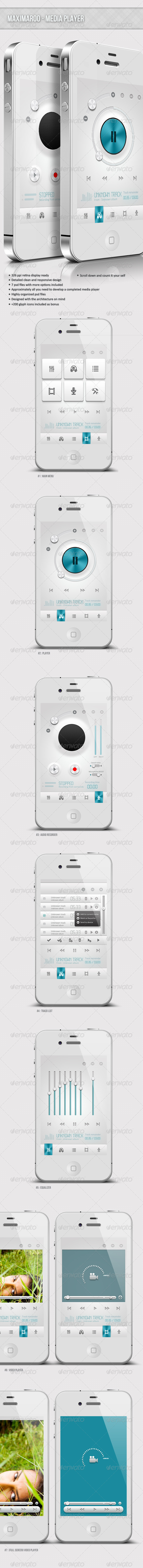Maximaroo - Retina Media Player - User Interfaces Web Elements