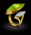 Golden ring with diamond - PhotoDune Item for Sale