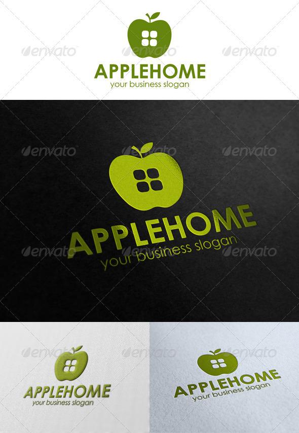 Apple Home Logo - Buildings Logo Templates