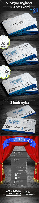 Land surveyor business card graphics designs template reheart Choice Image
