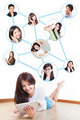 Young asian girl in social network - PhotoDune Item for Sale