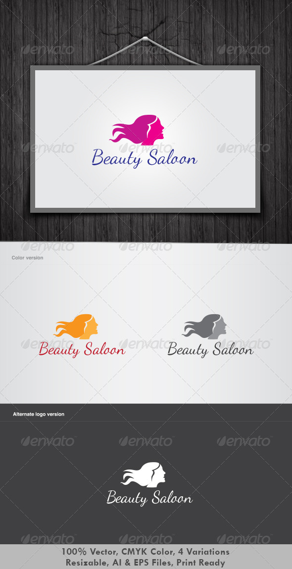 Beauty Saloon Logo - Humans Logo Templates