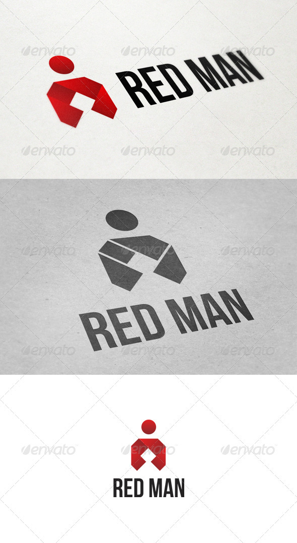 GraphicRiver Red Man Logo 2775346