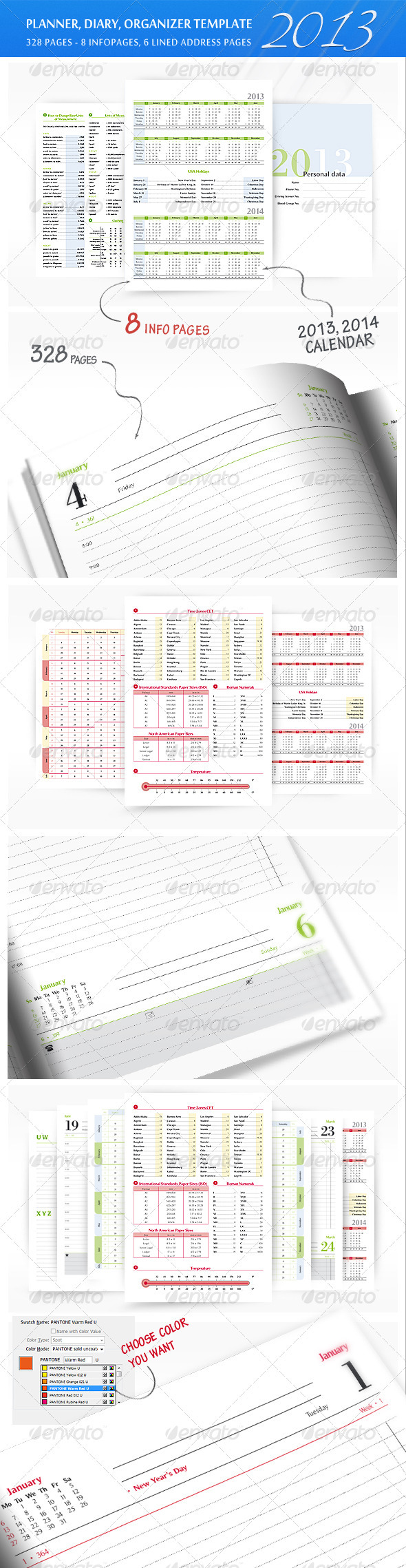 Planner-Diary-Organizer 2013 - Calendars Stationery