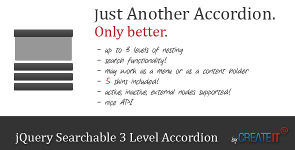 CodeCanyon jQuery Searchable 3 Level Accordion 2616426