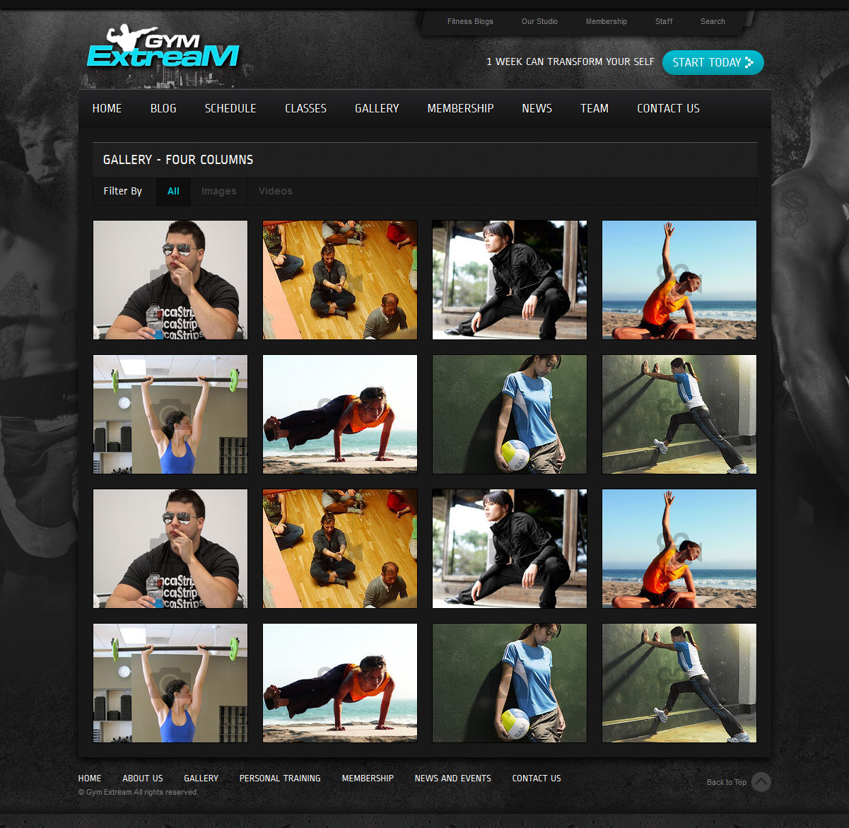 Gym Extream - Gym and Fitness Template
