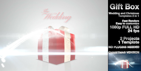 VideoHive Giftbox Wedding & Christmas 2776010