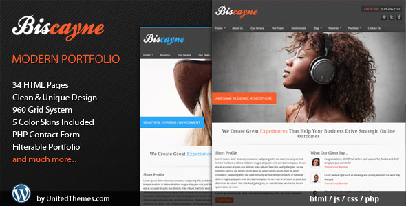 ThemeForest Biscayne Modern Business HTML Template 1274572